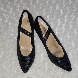 impo Black Sequin Heels SZ 8 1/2B